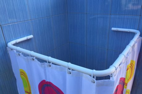 Sasko - Drążki kątowe do zasłony prysznicowej do brodzika
