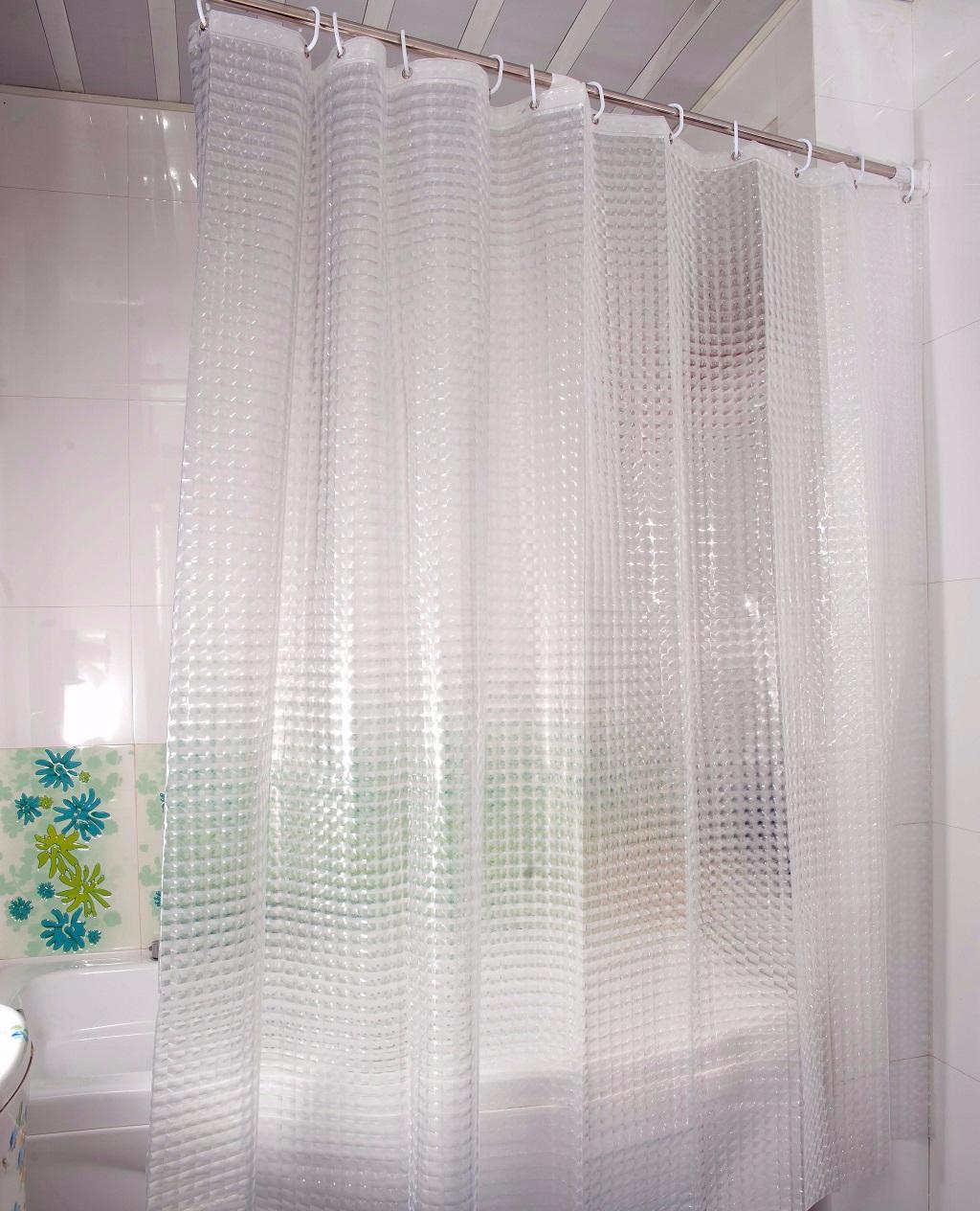 DUSCHY Zasłona prysznicowa 180x200 transparentna 3D 629-20