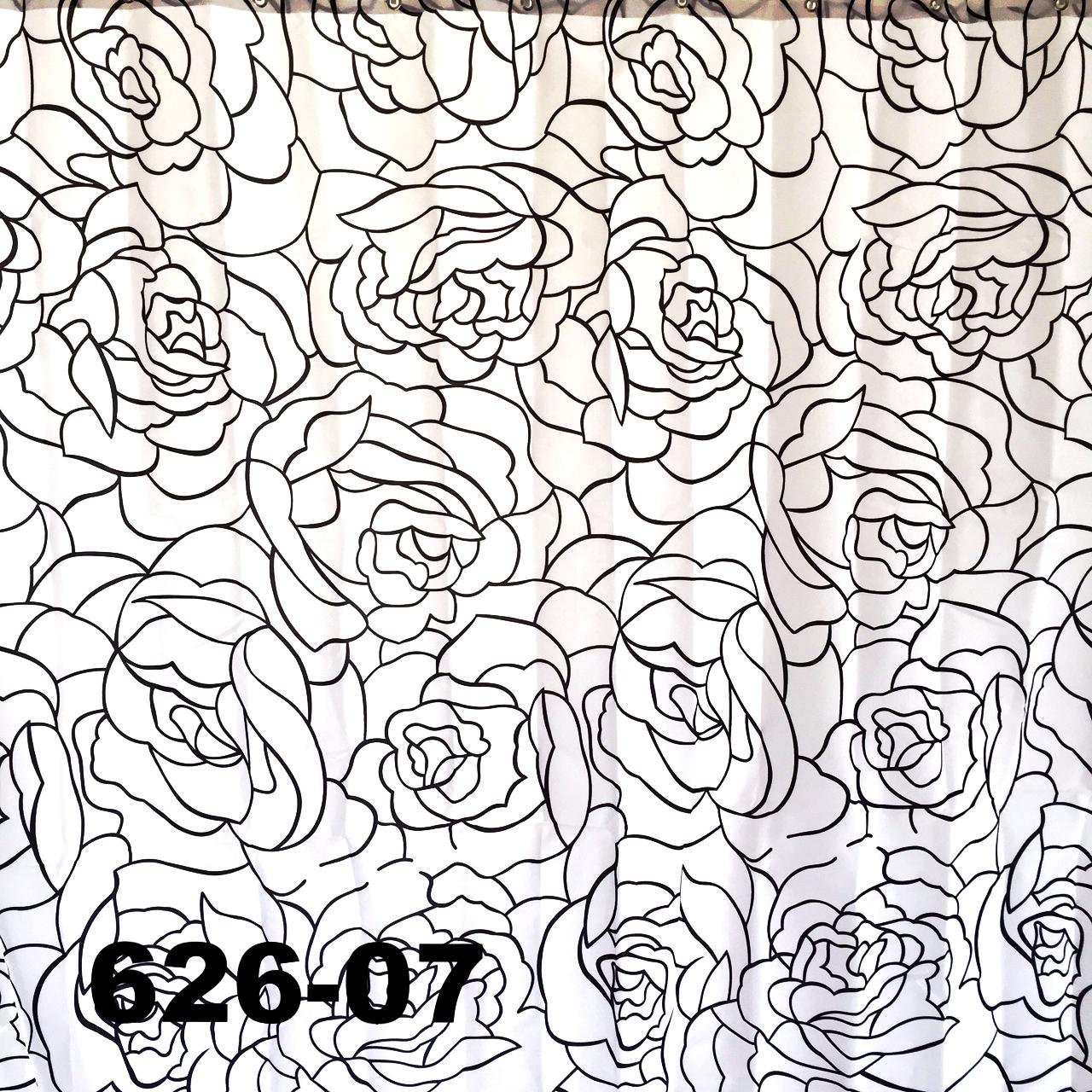 DUSCHY Zasłona prysznicowa 180x200 tekstylna 626-07 ROSES LINE
