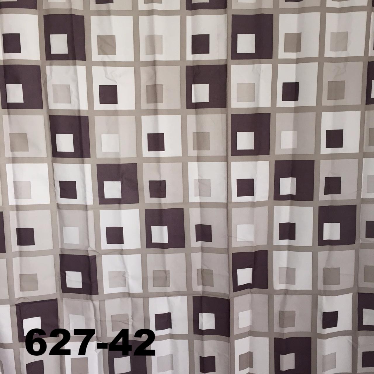 DUSCHY Zasłona prysznicowa 180x200 tekstylna 627-42 SQUARE GREY
