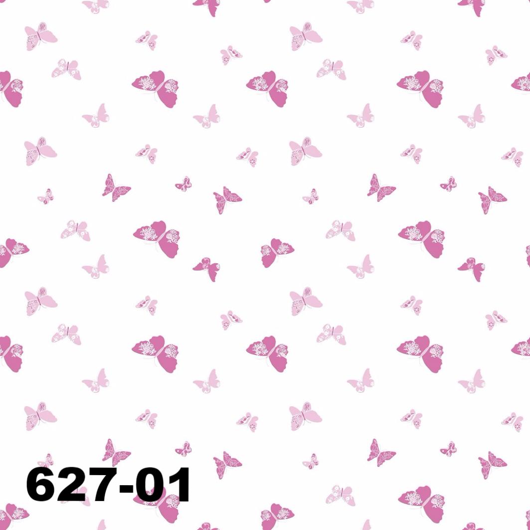 DUSCHY Zasłona prysznicowa 180x200 tekstylna 627-01 BUTTERFLY PINK