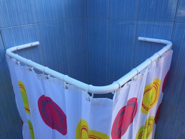 sasko - drążki kątowe do zasłon prysznicowych