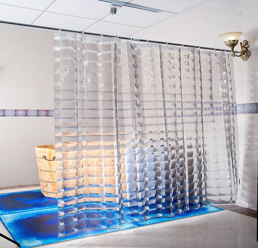 DUSCHY Zasłona prysznicowa 180x200 transparentna 3D 629-10