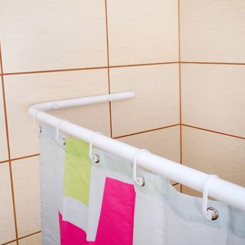 Drążki łukowe do zasłon prysznicowych do brodzika