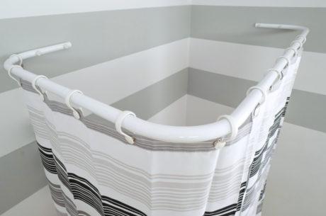 Sasko - Drążki kątowe do zasłony prysznicowej do wanny
