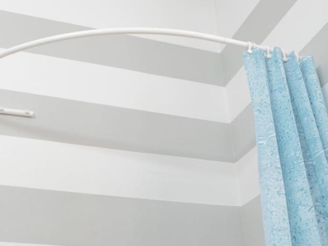Drążki łukowe dozasłony prysznicowej dowanny asymetrycznej Sasko