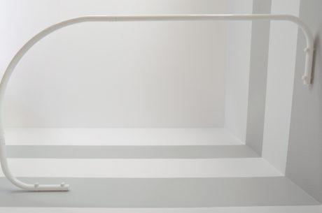 Sasko - Drążki łukowe do zasłony prysznicowej do brodzika asymetrycznego