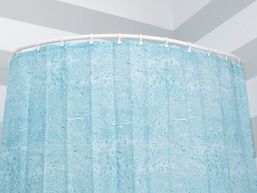 Drążek łukowy dozasłony prysznicowej dowanny asymetrycznej Sasko